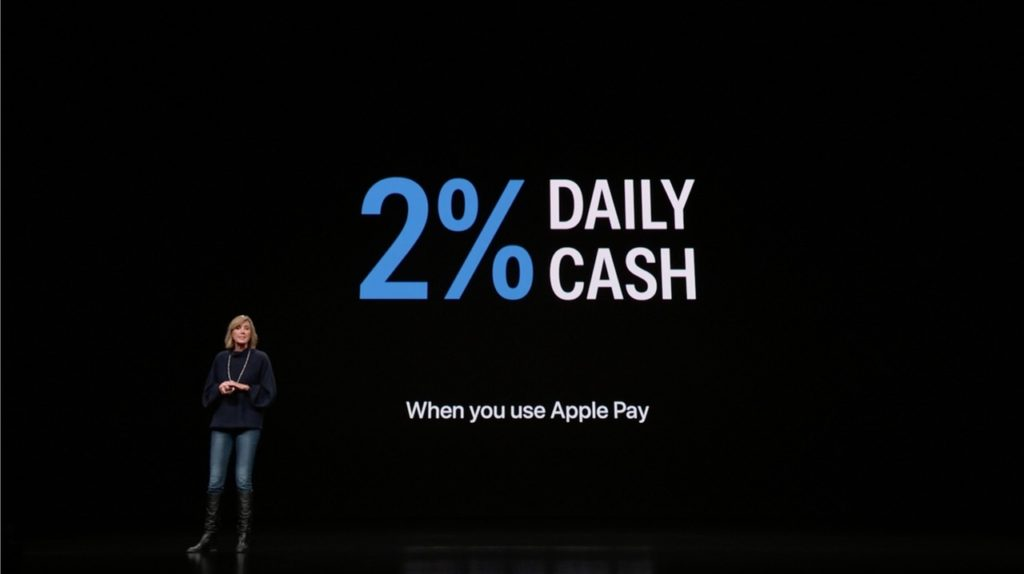 "alt""Apple cardを使えば2%キャッシュバックされる"""